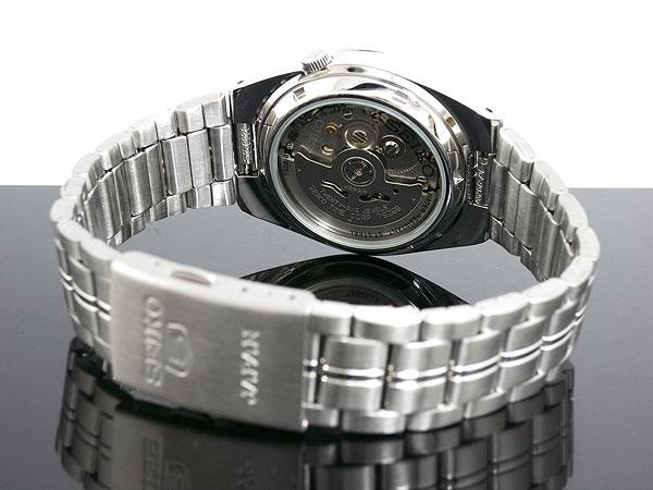 SEIKO 5 세이 코 5 역 수입 일본 스틸 오토매틱 남성용 시계 SNK567J1 블랙/실버 메탈 벨트