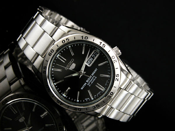 Self-winding watch men watch SNKE01J1 black X silver metal belt made in SEIKO 5 SEIKO 5 reimportation Japan