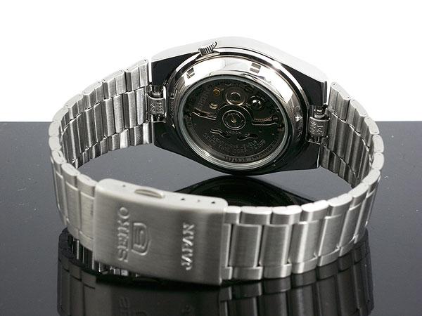 SEIKO 5 세이 코 5 역 수입 일본 스틸 오토매틱 남성용 시계 SNXM17J5 화이트 × 실버 메탈 벨트