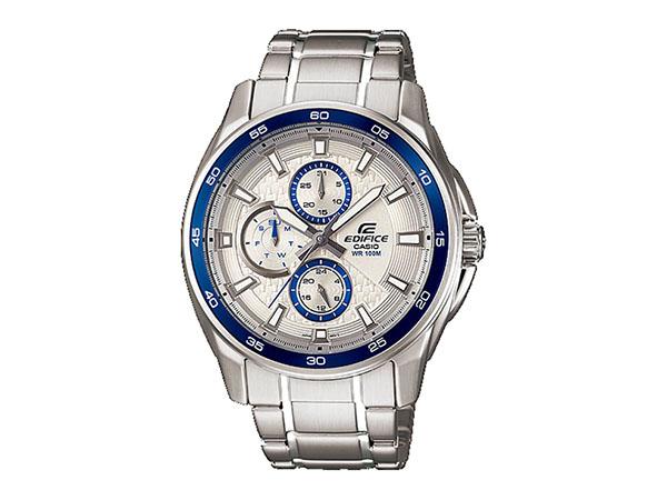 8bff54e672 カシオ CASIO エディフィス 逆輸入 メンズ 腕時計 EF-334D-7AV 防水 ホワイト×白