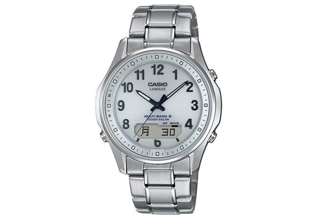 カシオ CASIO チタン 電波ソーラー メンズ 腕時計LCW-M100TSE-7AJF