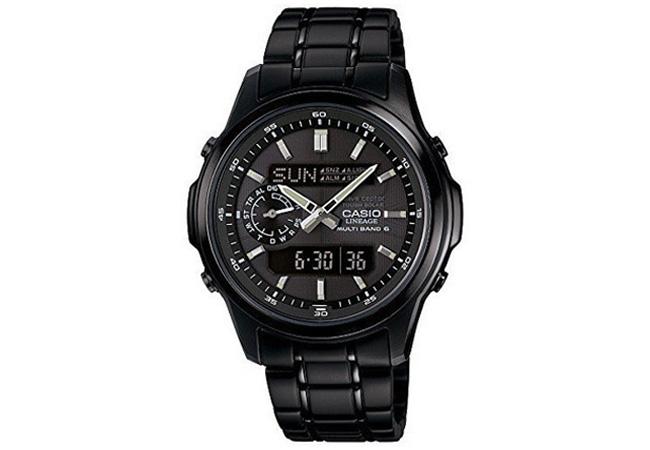 カシオ CASIO チタン 電波ソーラー メンズ 腕時計 LCW-M300DB-1AJF