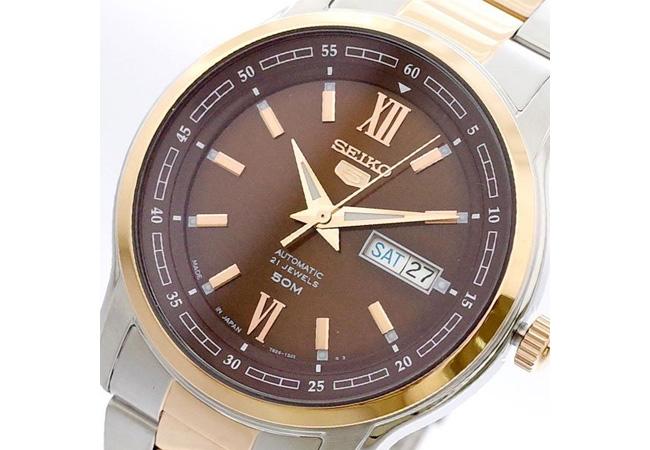 セイコー SEIKO 腕時計 メンズ SNKP18J1 セイコー5 SEIKO5 ブラウン シルバー