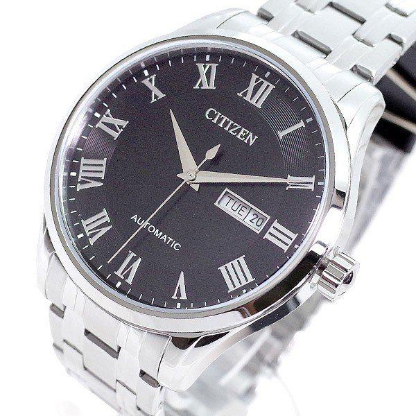 シチズン CITIZEN 逆輸入 日本製 自動巻き メカニカル メンズ 腕時計 NH8360-80E シルバー メタルベルト