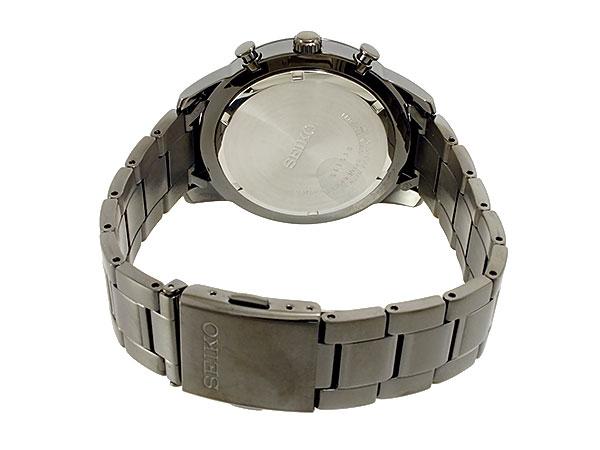 세이 코 SEIKO 해외 모델 크로 노 그래프 남성 시계 SNDD89P1 블랙 메탈 벨트