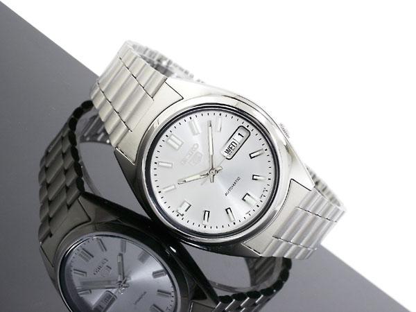 SEIKO 5 セイコー5 逆輸入 自動巻き メンズ 腕時計 SNXS73K シルバー メタルベルト