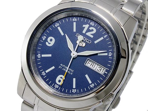 SEIKO 5 세이 코 5 역 수입 오토매틱 남성용 시계 SNKE61K1 블루 × 실버 메탈 벨트