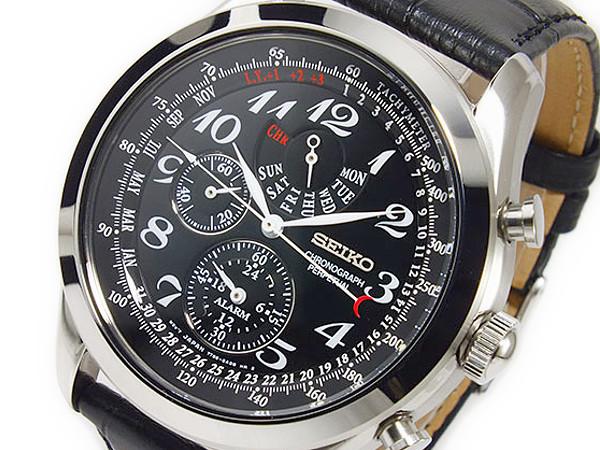 セイコー SEIKO クロノグラフ アラーム パーペチュアルカレンダー メンズ 腕時計 SPC133P1