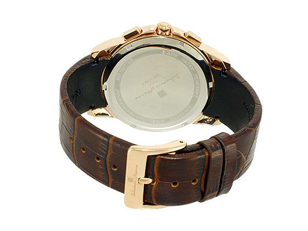 サルバトーレマーラ 腕時計 スケルトン クロノグラフ メンズ SM13119S PGWH ピンクゴールド×ホワイト ブラウン レザーベルトCBexod