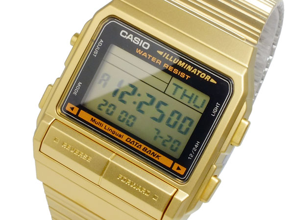aaa net shop rakuten global market casio casio data bank data casio casio data bank data bank watch gold db 380g 1 men