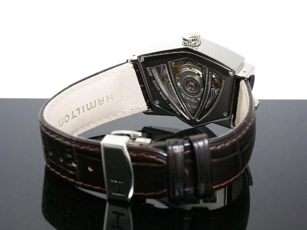 해밀턴 HAMILTON 벤츄라 오토매틱 스위스 제 시계 H24515591 실버 × 브라운 레더 벨트