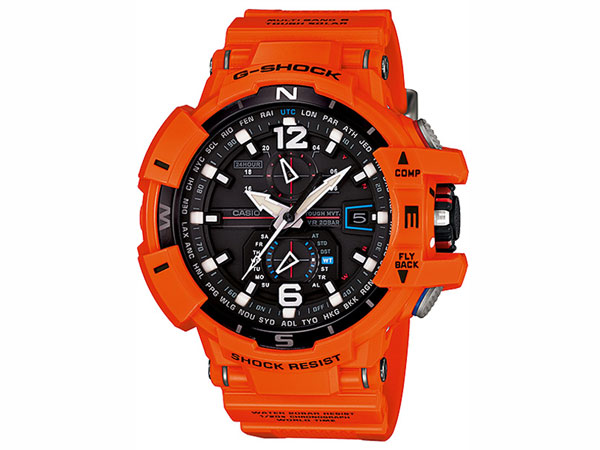 CASIO G-SHOCK reimportation sky cockpit electric wave solar men watch GW-A1100R-4A orange rubber belt