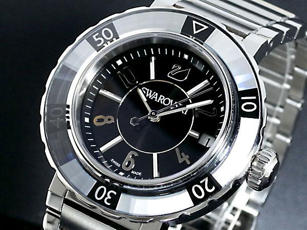 スワロフスキー SWAROVSKI オクティア スポーツ クリスタル レディース 腕時計 999982 ブラック×シルバー メタルベルト ブレスレット