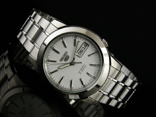 SEIKO 5 セイコー ファイブ 海外モデル 腕時計 自動巻き メンズ SNKE49K1 シルバー メタルベルト
