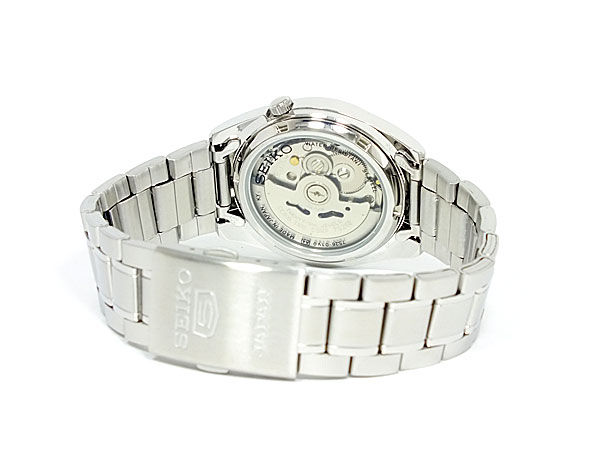 Seiko SEIKO 5 5 foreign models made in Japan automatic movement mens watch SNKL41J1 White x silver metal belt