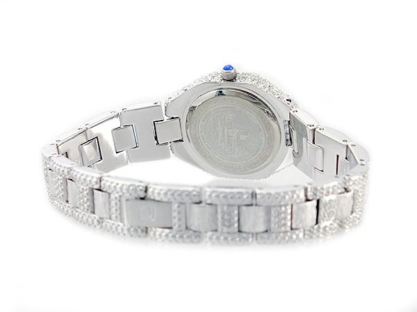 ルイラセール LOUIS LASSERRE nature sapphire quartz Lady's watch LL08SV-S silver X blue metal belt bracelet