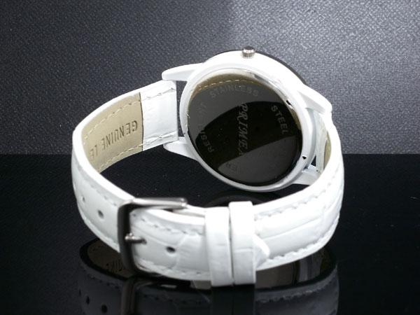 PRIMEX 퓨 멕 스 버터 플라이 나비 시계 여성용 PX-2541-WH 화이트 × 실버 레더 벨트