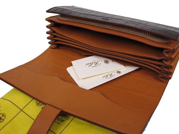 FELISE felisi two fold made in Italy type press leather wallets wallet 3005 Mocha