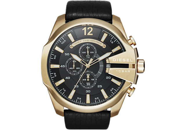 ディーゼル DIESEL クロノグラフ メガチーフ腕時計 メンズ DZ4344 ブラック ゴールド