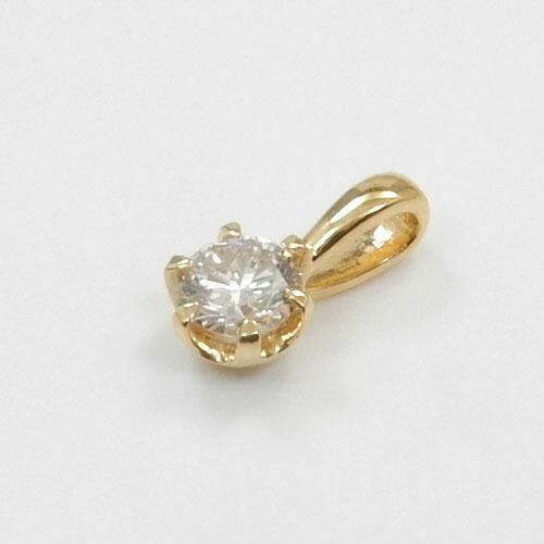 ダイヤモンド 0.2カラット ペンダントヘッド18金ゴールド(K18)/18金ホワイトゴールド/18金ピンクゴールド3種類からお選びいただけます。ダイヤモンドtypeAA送料無料