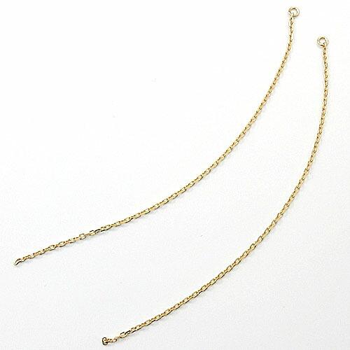 長さ60ミリ 18金ゴールド(K18) 小豆チェーンピアス芯用チャーム(幅0.8mm・全長60mm)送料無料
