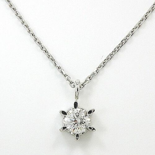 プラチナ ダイヤモンド0.18カラット(Pt900)ペンダントネックレス(VS2 Gカラー/簡易鑑定カード付)