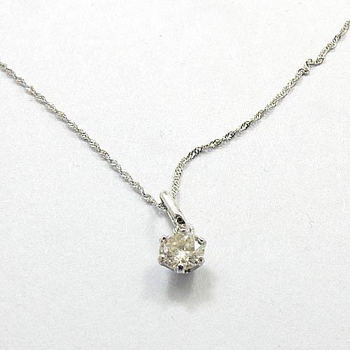 0.2カラット ダイヤモンド(Pt900 0.2ct)プラチナ ペンダントSI2クラリティJカラーPt850スクリューチェーン付き