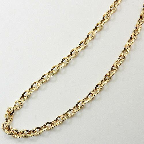 1.2ミリ幅 60センチ 18金ゴールド/ホワイトゴールド/ピンクゴールド シャインチェーン(幅1.2mm・全長約60cm)一週間前後発送可