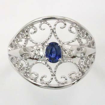 サファイヤ ダイヤモンド リング 18金(K18) 18金ホワイトゴールド(K18WG) 2種類ございます 送料無料