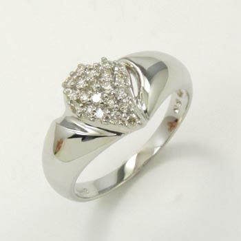 プラチナ(Pt900) ダイヤモンド パヴェ リング 0.3カラット typeAA 送料無料
