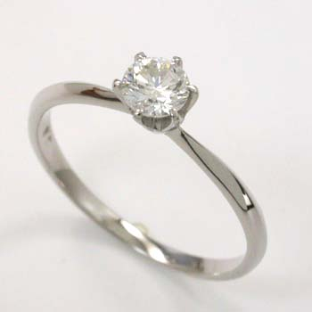 プラチナ(Pt900) ダイヤモンド リング 0.3カラット 一粒 typeAAA 送料無料