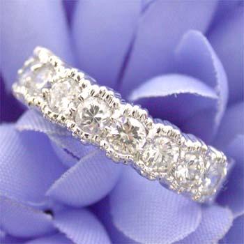 プラチナ(Pt900) ダイヤモンド エタニティ リング 1カラット typeAA 送料無料