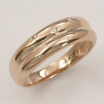 18金ピンクゴールド ダイヤモンド リング 0.03ct (K18PG ダイヤ 0.03カラット) typeAAA 送料無料