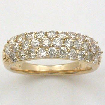 ダイヤモンド リング 18金 1ct パヴェ (K18 ダイヤ 1カラット パヴェリング) typeAAA 送料無料