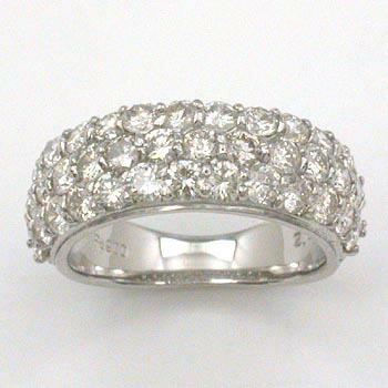 ダイヤモンド リング プラチナ 1.8ct パヴェ (Pt900 ダイヤ 1.8ct パヴェリング) typeAA 送料無料