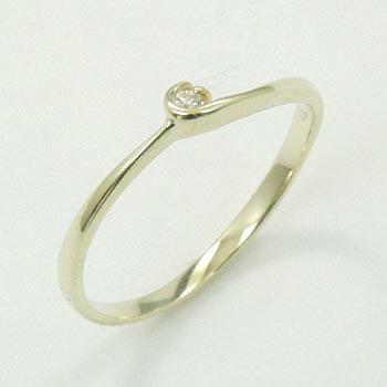 ダイヤモンド リング 0.01ct(VSクラス)一粒 ピンキー 10金イエローゴールド(K10YG ダイヤ 0.01カラット ピンキーリング)送料無料