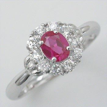 プラチナ(Pt900) ルビー ダイヤモンド typeAAA リング 送料無料