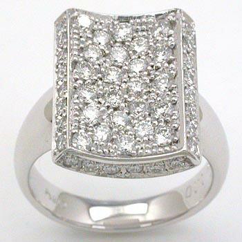 プラチナ(Pt900) ダイヤモンド パヴェ リング 1.1カラット typeAA :アーアゼロワン JEWELRY