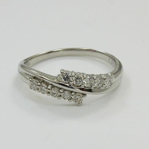 ダイヤモンド 0.3カラット プラチナ(PT900)ダイヤ0.3ct スイートテンリングtypeAAA