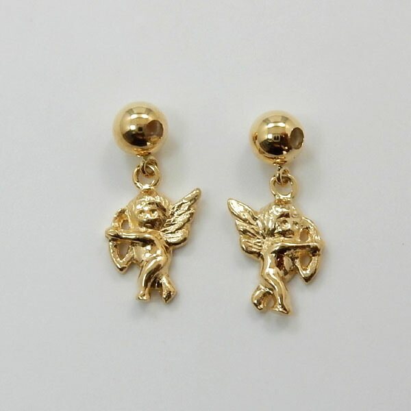 18金ゴールド(K18)天使モチーフ(シリコン入り)スライドピンチェーンに通してお楽しみください