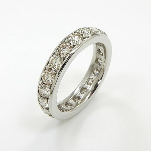 プラチナ ダイヤモンド1.5カラット(PT900)ダイヤフルエタニティ1.5ctリングtypeAA