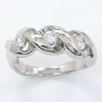 K18WG天然ダイヤモンド(SI1・H) リング