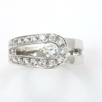 18金ホワイトゴールド ダイヤモンドリング(トータル0.5カラット)typeAAA
