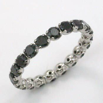 プラチナ(PT900)ブラックダイヤモンドフルエタニティリング送料無料代引手数料無料