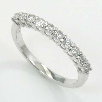 10金(K10)ホワイトゴールド ダイヤモンド(SIクラス) ピンキーリング 0.2カラット 送料無料