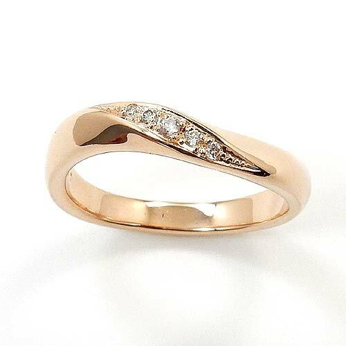 18金ピンクゴールド(K18PG) ダイヤモンド リング typeAAA 送料無料