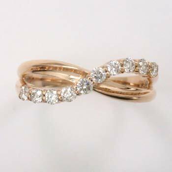 18金ピンクゴールド ダイヤモンド 0.3カラットスイートテンリング typeAAA送料無料 即納品(4日前後発送可能)