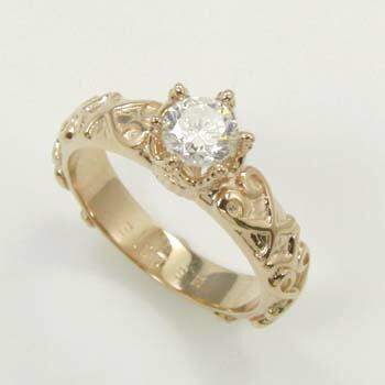 18金 0.55カラット ダイヤモンド(SI1クラリティ UNDERSカラー)K18PG/K18 ダイヤ0.55ct リング18金ピンクゴールド/18金ゴールド2種類の地金からお選びいただけます。
