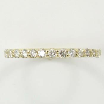 10金(K10)ダイヤモンド(SI2 I)ハーフエタニティ リング 0.3カラット【送料無料】【即納(4日前後発送)】