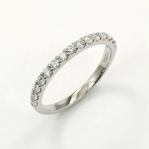 プラチナ(PT900) ダイヤモンド(VVS2 Gカラー)ハーフエタニティ リング 0.28ct 送料無料 代引手数料無料